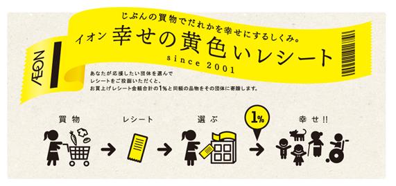 イオン株式会社「幸せの黄色いレシートキャンペーン」